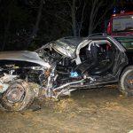 Fahrer bei Großschwabhausen nach Kollision mit Baum lebensbedrohlich verletzt