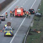 PKW überschlägt sich auf der A71 bei Erfurt-Gispersleben