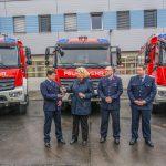 Übergabe neuer Löschfahrzeuge und Rückblick der Beschaffungen in Gera