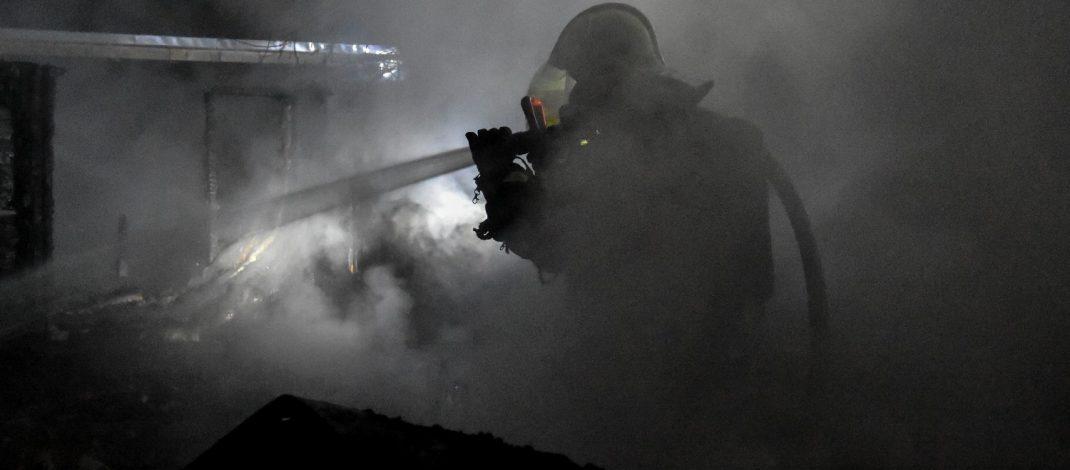 Gartenlaube einer Kleingartenanlage in Suhl-Heinrichs ausgebrannt