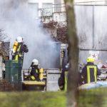 Containerbrand auf dem Gelände der Klinik in Blankenhain