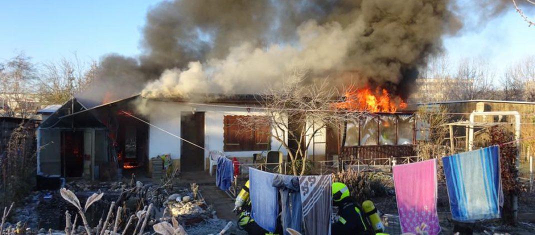Eigentümer bei Gartenlaubenbrand in Gera-Zwötzen verletzt