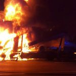 Führerhaus eines Autotransporters brannte auf der A4 komplett aus