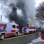Hoher Schaden nach Brand in einer Doppelgarage in Kranichborn