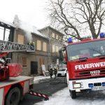 Brand von Unrat in einem leerstehenden Gebäude in Gotha