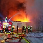 Großbrand auf Gelände einer Agrargenossenschaft im Landkreis Hildburghausen