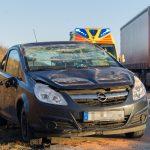 Dritter Unfall: PKW wich aus und überschlug sich auf A4 bei Bucha