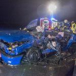 Tödlicher Verkehrsunfall mit verletzten Kindern auf der B7