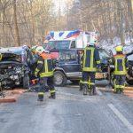 Vollsperrung der Bundesstraße 85 nach Frontalzusammenstoß bei Bad Berka