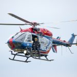 Bei Bad Berka überschlagen: Hubschrauber im Einsatz