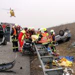 Zwei Schwerverletzte nach Unfall auf der A71 bei Kölleda