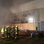 Brand in ehemaliger Kampfgruppenschule – Gebäude niedergebrannt