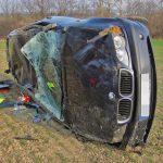 21-jähriger Fahrer überschlägt sich mit BMW bei Ramsla