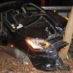 PKW kracht gegen Baum in Weimar – Fahrer alkoholisiert