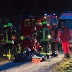 Mann bei Waldarbeiten in Blankenhain von Baum getroffen