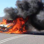 """Kleintransporter """"Fiat Ducato"""" auf der A38 bei Heiligenstadt ausgebrannt"""