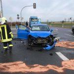 39-Jährige nach Vorfahrtsverstoß bei Sömmerda schwer verletzt