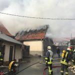 Scheunenbrand in Drognitz griff auf angrenzende Gaststätte über