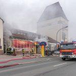 Großbrand in Weimar: Spielcasino steht in Flammen