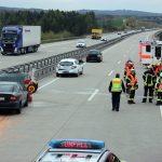 Sechs verletzte Personen nach Auffahrunfall auf der A38 bei Leinefelde