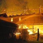 Scheune bei Hildburghausen ausgebrannt - Wohnhaus unbewohnbar