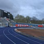 """Farbattacke und """"Südkurve zerstören"""" -Banner im Stadion des FCC"""