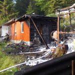 """Gartenhütte in Gartenanlage """"Am Sehmar"""" in Suhl niedergebrannt"""