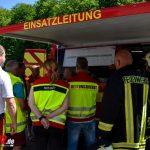 Etwa 150 Einsatzkräfte üben am Tunnel Eichelberg der A71