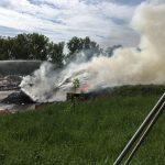 Brand von Sperrmüll auf Mülldeponie Untitz