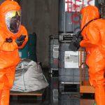 Gefahrgutübung nach Brand in einer Recyclingfirma in Schleiz