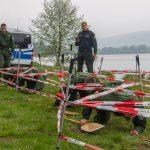Bereitschaftspolizei Thüringen trainiert am Stausee Hohenfelden