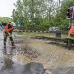 Bahnstrecke Weimar–Kranichfeld nach Starkregen gesperrt