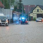 Nach heftigem Unwetter: Fluten ergießen sich über Pflanzwirbach