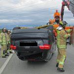 Junger Fahrer nach Überschlag auf der A4 bei Schmölln leicht verletzt