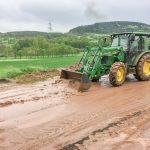 Starkregen sorgt für gewaltige Schlammmassen in Gumperda