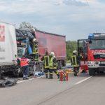 LKW-Fahrer stirbt nach Auffahrunfall auf der A4 bei Magdala