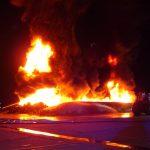 Altreifen brannten auf Gelände einer Agrargenossenschaft bei Gera