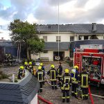 Garagenbrand griff in Gera-Niebra auf Wohngebäude über