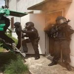Einsatzübung der Thüringer Polizei in Rudolstadt