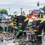 LKW verliert 8000 Bierflaschen bei Nohra – Vollsperrung!