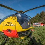 Zustand kritisch: Bei Sonneberg im Wald von Baum getroffen