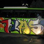 "Bus in Jena mit ""Horda Azzuro–Schickeria München"" beschmiert"