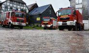 Mehrere Hochwasserschäden aufgrund von Dauerregen in Suhl