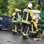 Sechs Personen nach Vorfahrtsfehler bei Schleusingen verletzt