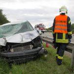 Zwei Personen nach Unfall auf A4 bei Weimar verletzt
