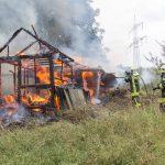 Brandstiftung? Gartenhütte bei Mellingen fiel Flammen zum Opfer