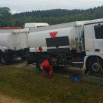 Blitzeinschlag: Tanklaster auf der A9 manövrierunfähig