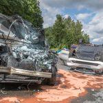 Heftiger Unfall mit mehreren Schwerverletzten auf B85