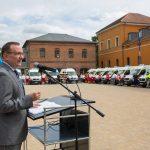 Poppenhäger übergab 24 Krankentransportwagen in Sondershausen