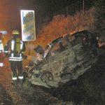 Frau irrt nach Unfall bei Nordhausen auf Landstraße umher